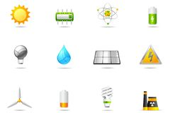Philos icons - set 14 | Power & Energy Royalty Free Stock Images