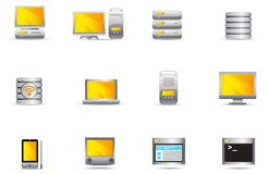 Philos icons - set 16 | Computer & Server Stock Photos