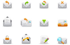 Philos icons - set 7 | Emails. Philos icon set. Professional icons for website and presentation Stock Photography