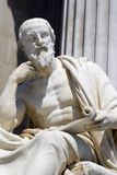 Philosopher. For vienna parliament - detail stock photo