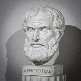 Philosopher Aristotle Sculpture. Greek philosopher and scientist royalty free stock photography