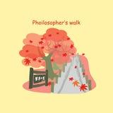 Philosopher's Way with maple Stock Photos