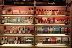 Philosophie-Kosmetik-Produkte Stockfotos