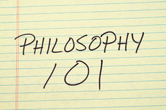 Free Philosophy 101 On A Yellow Legal Pad Stock Image - 95232591