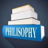 Philosophy Book Shows Non-Fiction Morality And Reasoning. Philosophy Book Representing Morality Knowledge And Perspective Stock Image