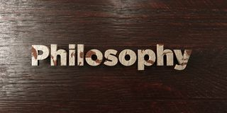 Philosophy - grungy wooden headline on Maple  - 3D rendered royalty free stock image Stock Photography