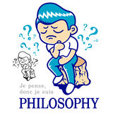 Philosophy mascot. Education and life Character Design series. Royalty Free Stock Photo