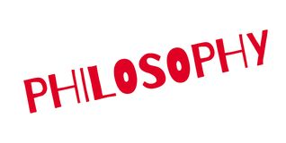 Philosophy rubber stamp Stock Photos