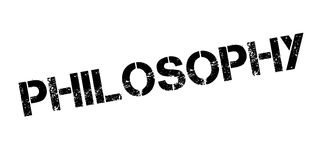 Philosophy rubber stamp Stock Images