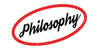 Philosophy rubber stamp Stock Photography