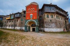 Philotheou-Kloster auf dem Mount Athos lizenzfreies stockfoto