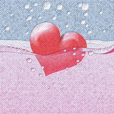 Philtre drink of love relief painting on generated knit texture Stock Photos