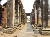 Phimai Historical Park. Antique stone pillars  Phimai Historical Park Royalty Free Stock Photo