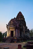 Phimai Historical Park in the evening Royalty Free Stock Photography