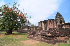 Phimai historical park. The Historical park in Korat , Thailand. Nice and peace Stock Image