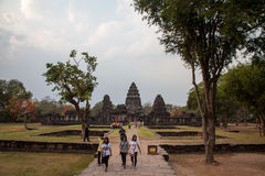 Phimai historical park Royalty Free Stock Photo