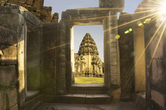 Phimai Historical Park. In Thailand Royalty Free Stock Photo
