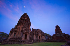 Phimai Historical Park in the twilight Royalty Free Stock Photo