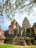 Phimai historisch park, oud kasteel in Nakhon-ratchasima, Thailand stock foto's