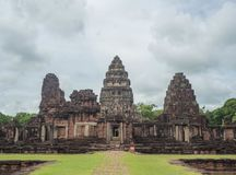 Phimai historischer Park Stockfotos