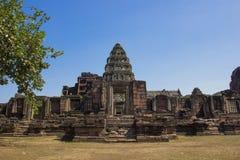Phimai historischer Park, Thailand stockbilder