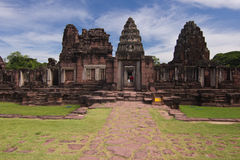 Phimai historisk park Arkivbilder