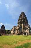Phimai sanctuary ,Ancient Khmer phrang thailand Stock Photo