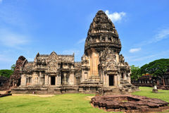 Phimai sanctuary ,Ancient Khmer phrang thailand Stock Image