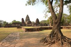 Phimai Stone Castle Royalty Free Stock Photo