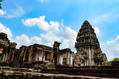 Phimai Stone Castle, Thailand. Phimai Historical Park Park is one of the country's history. Located in the Phimai. Nakhon Ratchasima Castle Rock during the Khmer Stock Images