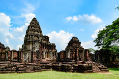 Phimai Stone Castle, Thailand. Phimai Historical Park Park is one of the country's history. Located in the Phimai. Nakhon Ratchasima Castle Rock during the Khmer Royalty Free Stock Image