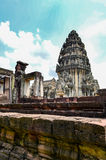 Phimai Stone Castle, Thailand. Phimai Historical Park Park is one of the country's history. Located in the Phimai. Nakhon Ratchasima Castle Rock during the Khmer Stock Photo