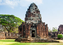 Phimai vintage Castle Historical Park Royalty Free Stock Photos