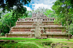 Phimeanakas Temple of Angkor. The Phimeanakas Temple inside the Angkor Wat complex, Cambodia.  It is a small temple with many legends associated with it Royalty Free Stock Photo
