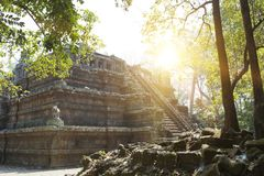 Phimeanekas Tempel oder Vimeanakas bei Angkor ist ein hindischer Tempel in der Khleang-Art, aufgebaut am Ende des 10. Jahrhundert Stockbild