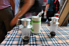 Phin traditional Vietnamese coffee maker Royalty Free Stock Photo