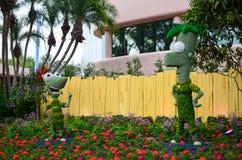 Phineas e statua del ferb Fotografie Stock Libere da Diritti