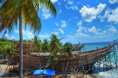 Phinisi, Celebes Traditional Boat Stock Photos