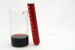 Phiole und Reagenzglas lizenzfreie stockbilder