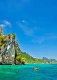 Phiphi island, phuket,thailand. And canoe Royalty Free Stock Photo