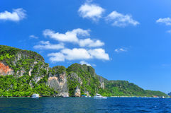 PhiPhi Island. Snorkeling Point at PhiPhi Island Phuket Andaman Thailand Stock Photography