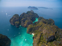 PhiPhi Leh Island, aerialphoto Royalty Free Stock Photo