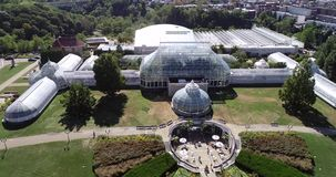 Phipps Conservatory and Botanical Gardens in Pittsburgh, Pennsylvania, United States. Schenley Park`s horticulture hub features. Phipps Conservatory and stock footage