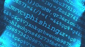 phishing的病毒 免版税库存图片