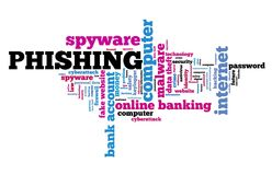 Phishing间谍软件 库存图片