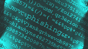 phishing κείμενο σχεδίου Στοκ εικόνα με δικαίωμα ελεύθερης χρήσης