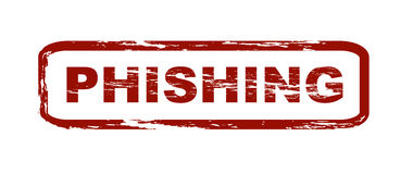 Phishing. Stylized red stamp with the caption phishing. All on white background. Phishing is short term for password fishing. A common method of cybercrime Royalty Free Stock Image