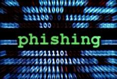 phishing Arkivbild