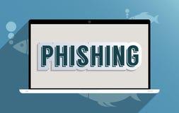 Phishing Стоковое Изображение RF