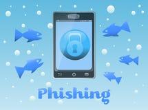 Phishing stock illustratie